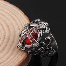 cross jewelry rings images Casting stainless steel gothic vampire cross ring for women men jpg