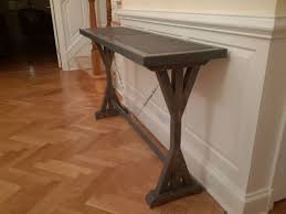 Hallway Table by Ana White Fancy X Inspired Hallway Table Slate Tile Inlay