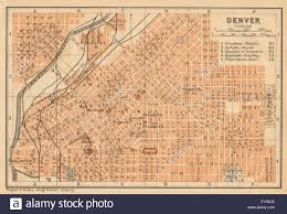 Map Denver Colorado by Denver Antique Town City Plan Colorado Baedeker 1904 Antique