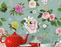 Floral Shabby Chic Wallpaper by Self Adhesive U0027shabby Chic U0027 Floral Wallpaper Contemporary Wall