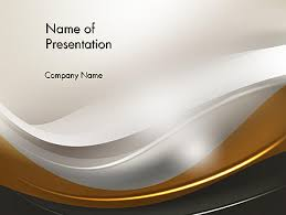 abstract silver gold and bronze waves powerpoint template