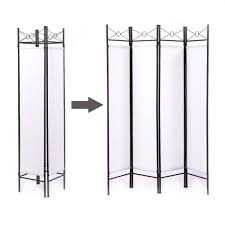 white room divider lazymoon 4 panel steel room divider screen fabric folding