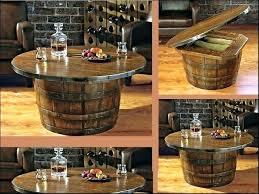 Wine Coffee Table Wonderful How To Make A Wine Barrel Coffee Table Oak