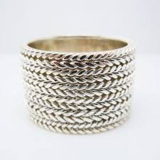 mens sterling rings images 16mm mens sterling silver wide cigar ring in rings from jewelry jpg