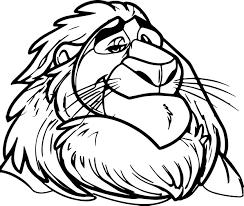 mayor lion zootopia coloring page wecoloringpage