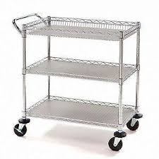 industrial iron wood kitchen trolley natural black buy kitchen kitchen cart ebay