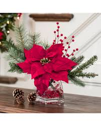 christmas decorating u0026 gift giving with silk poinsettia accent