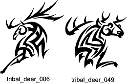 deer antler tribal tattoo pictures to pin on pinterest tattooskid