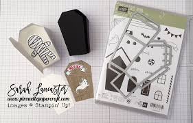 home sweet home coffin shaped treat box stampin u0027 up youtube