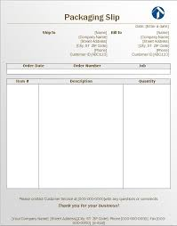 Packing List Template Excel Packing Slip Template Cyberuse
