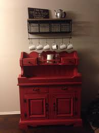 my coffee bar with an antique dry sink as the base cabinet home