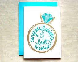Wishes For Engagement Cards Engagement Cards Etsy