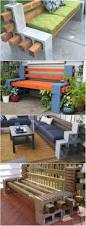 backyard ideas cinder block furniture backyard surprising fire