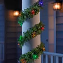 philips 18ft prelit artificial garland multicolored led