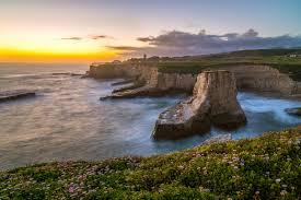 California scenery images Sunrise sunset california sunrises cruz coast usa crag nature jpg