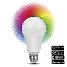 alexa controlled light bulbs tnp smart wifi led light bulb wireless multicolored home