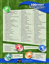 100 funny team names great ideas for baseball soccer charity