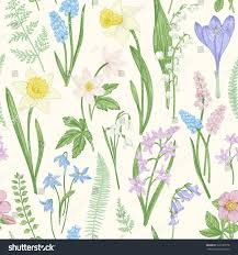 Image Of Spring Flowers vintage seamless floral pattern spring flowers stock vector