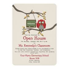 open house invitations classroom open house invitations announcements zazzle