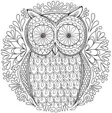 mandala coloring pages free owl nature mandala coloring page inkleur