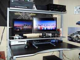 Best Computer Gaming Desk by Desk Wooden Gaming Desk Pertaining To Marvelous Granite Inlaid