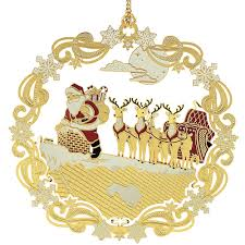 roof top santa christmas ornament handcrafted in the usa item 55936