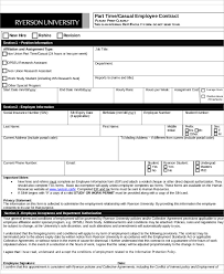 7 employee contract templates free samples examples format