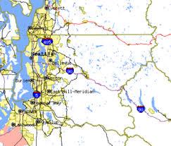seattle map by county seattle metropolitan area