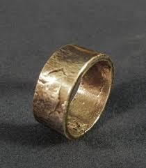 rustic mens wedding bands men s silver rustic wedding band or womans silver band