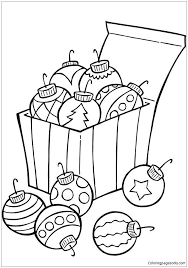 ornaments for tree coloring page free coloring pages