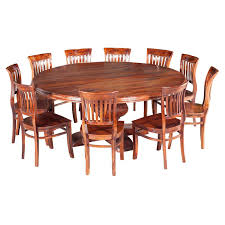 large round wood dining room table nevada large round rustic solid wood dining table chair set