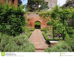 Walled Garden For Sale by An English Walled Garden With Arch Stock Photo Image 23684690