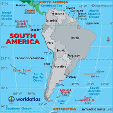 a map of south america large map of south america easy to read and printable