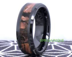 camo mens wedding bands camo wedding rings etsy