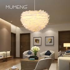appareil photo chambre mumeng moderne pendentif lumière plume balle appareil blanc e14