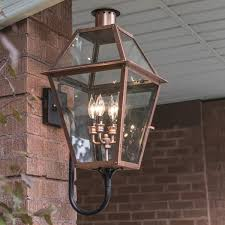Overstock Wall Sconces Rue De Royal 4 Light Outdoor Aged Copper Wall Sconce Free