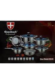 valise cuisine batterie de cuisine 16 pièces en inox eisenbach