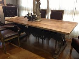 Rustic Dining Room Table With Bench Narrow Dining Room Table Provisionsdining Com