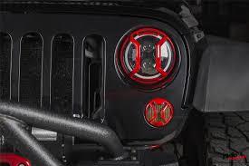 jeep angry headlights elite headlight euro guards red 07 17jeep wrangler jk jku