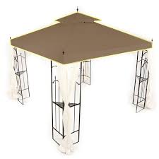 Pergola Gazebo With Adjustable Canopy by Gazebo Replacement Canopy Top And Replacement Tops Garden Winds