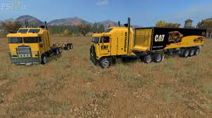 kenworth k100 cat kenworth k100 trailer dolly v 2 0 u2013 fs17 mods