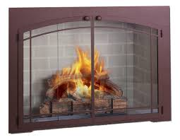 decor arched glass fireplace doors with arch bi fold full view