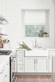 All White Kitchen Cabinets Kitchen Style All White Farmhouse Kitchen Design Brass Kitchen