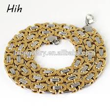 byzantine necklace images Latest stainless steel new gold byzantine necklace neck chain jpg