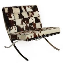 Replica Mies Van Der Rohe Barcelona Chair Cowhide The Barcelona