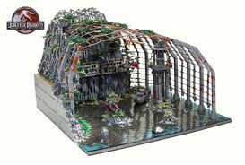 jurassic park car lego jurassic park lego diorama recreates memorable scenes from all