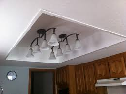 Kitchen Fluorescent Light Cover Replacing Fluorescent Light Fixture In Image Of The Fluorescent