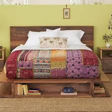 aged wood platform bed hardwoods reclaimed from brazilian