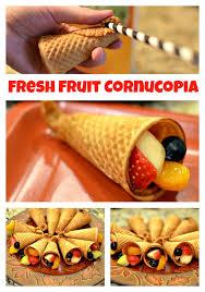 pre thanksgiving and fresh fruit cornucopia