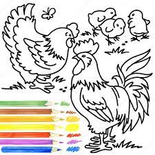 rooster hen coloring book hen rooster hen